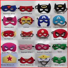 52 designs new super hero mask kids eyemask children cosplay