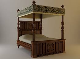 antique canopy bed 3d antique canopy bed cgtrader