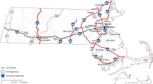 road map massachusetts usa map of massachusetts