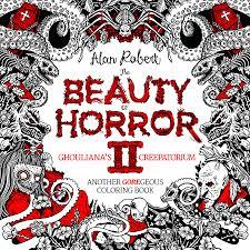 beauty horror goregeous coloring book alan robert