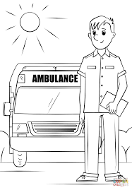 ambulance driver coloring page free printable coloring pages