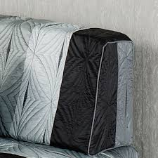 Grey Quilted Bedspread Meridian Striped Quilted Bedspread Bedding