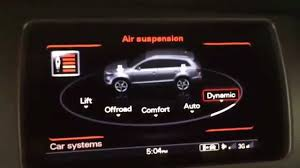 Is Air Ride Suspension Comfortable Audi Adaptive Air Suspension In 2015 Q7 Demonstration Youtube