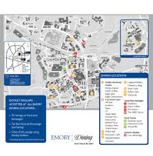 Map Of Midtown Atlanta by Emory Dining
