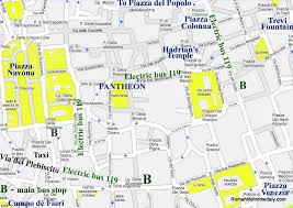 rome on a map the pantheon hotels maps sights transport etc