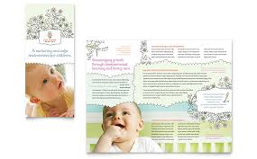 daycare brochure template babysitting daycare tri fold brochure template word publisher