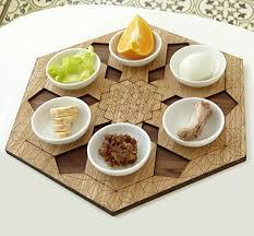 modern seder plate modern passover seder plate set of 6 pomegranate