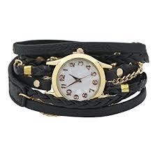 black leather strap bracelet images Charming vintage weave wrap leather chain bracelet jpg
