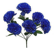 blue carnations 60 blue carnations wedding bridal bouquet silk flowers