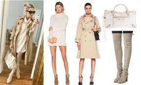 vanderpump rules stassi schroeder s cream dress trench coat bag