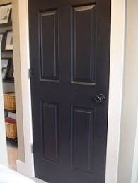 Spray Painting Interior Doors Before And After Painted My Interior Doors Black And Painted