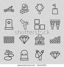 stone icons 16 stone stock vector 641435179 shutterstock