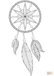 dream catcher coloring page free printable coloring pages