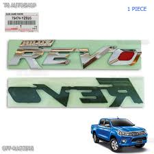 toyota hilux logo genuine chrome emblem rear tailgate logo for toyota hilux revo m70