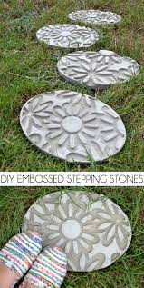 diy embossed stepping stones how to make stepping stones dream