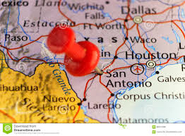 San Antonio Texas Map San Antonio Texas Usa Pinned Map Stock Illustration Image 89017296