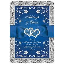 best size for wedding invitations bridesmaid dress navy royal blue and silver wedding invitations