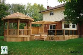 deck with gazebo plans deck design and ideas