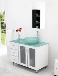 39 Inch Bathroom Vanity Abaco 39 Inch Vessel Sink Bathroom Vanity Tempered Glass Top