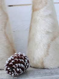 fur christmas diy faux fur christmas trees the happy housie