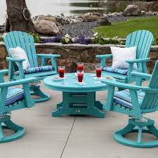 Poly Lumber Outdoor Furniture Berlin Gardens Round Conversation Table Commercial Collections