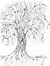 swirly tree by graphite contrast on deviantart