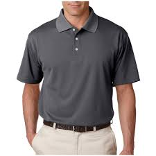 personalized ultraclub mens cool u0026 dry stain release polo shirts charcoal columbia blue