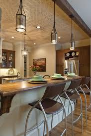 white oak wood classic blue madison door lighting over kitchen