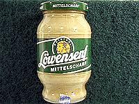 lowensenf mustard lowensenf medium mustard in jar bavaria sausage