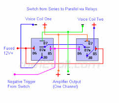 how to wire relays switching from series to parallel and back