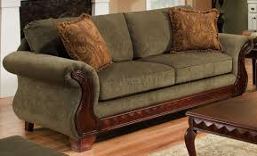 traditional sofas with wood trim suddenly traditional sofa fabric loveseat set w carved wood legs