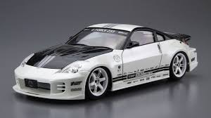 fairlady z white 1 24 scale nissan top secret z33 fairlady z model kit kent models