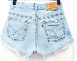 light wash denim shorts all sizes women levi high waisted denim shorts vinatge