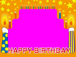 happy birthday frame candles stars download powerpoint