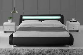 Led Bed Frame Madrid Led Lights Modern Designer Black Bed Frame Single