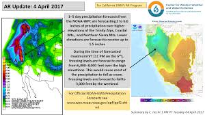 California Weather Map Cw3e Ar Update 04 April 2017 Outlook U2013 Center For Western Weather