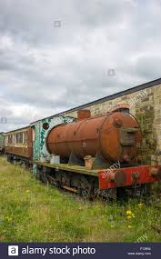 rusty train rusty steam train in the scrap yard at tanfield railway the