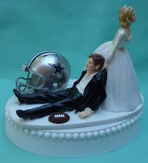 wedding cakes dallas wedding cake topper dallas cowboys football themed w garter