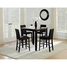 Value City Furniture Dining Room Tables Shadow Counter Height Table And 4 Chairs Black City Furniture