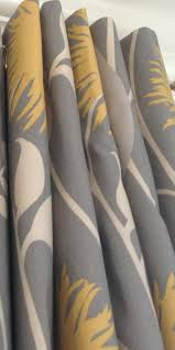 blue yellow curtains custom made curtain panels paisley in