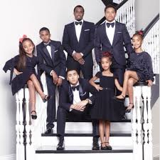 cuteness diddy shows off fly family christmas card with all his