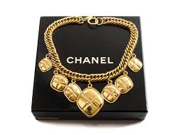 vintage jewelry choker necklace images Authentic chanel vintage gold tone dangling diamond choker jpg