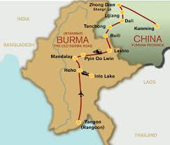 Map Burma Myanmar U0026 China U2013 Old Burma Road U2013 Goddard And Howse