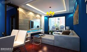Cozy Living Room Colors Cozy Style Blue Living Room Decorated With Brown Wooden Flooring