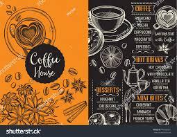 coffee menu place mat food restaurant stock vector 440560951