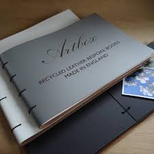 leather photo albums engraved engraved leather photo album by artbox notonthehighstreet