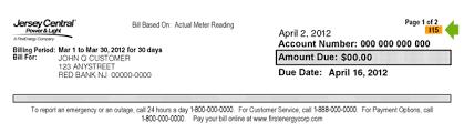 Help Paying Light Bill Jersey Central Power U0026 Light 2017 Meter Reading Work Schedule