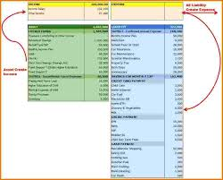 9 personal financial statement template excel financial