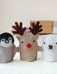 winter friends finger puppets kit make your own children u0027s