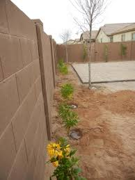 Arizona Backyard Landscaping by Curvy Sidewalk With Mounding And Plants Dress Up A Boring Side